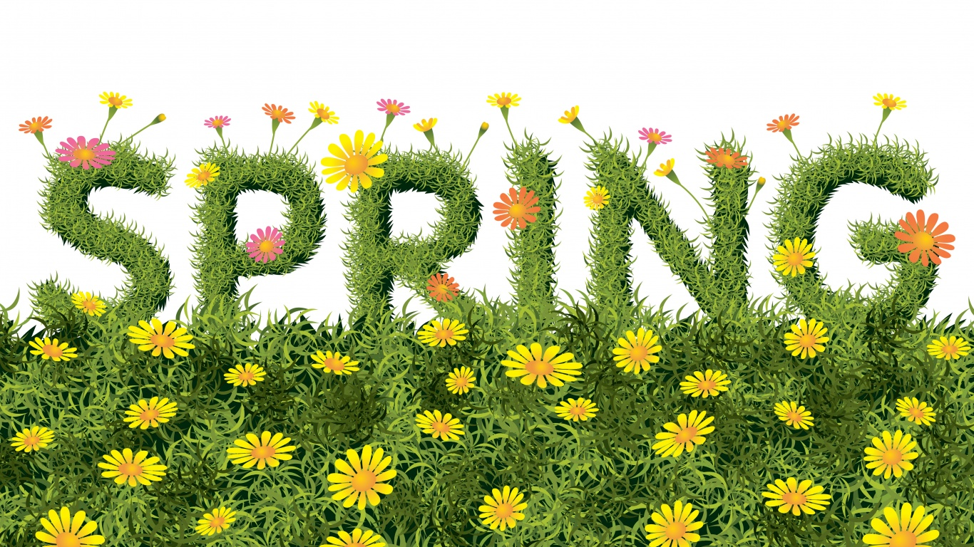 Art Spring Text Green Yellow