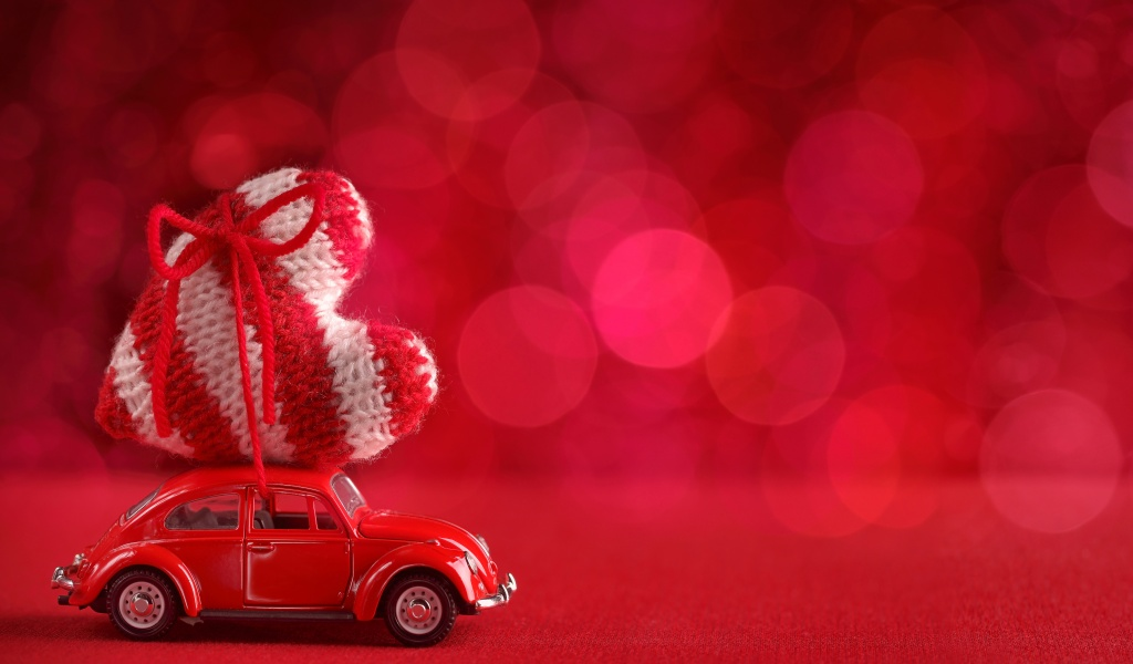 Car Toys Valentines Day Heart Red