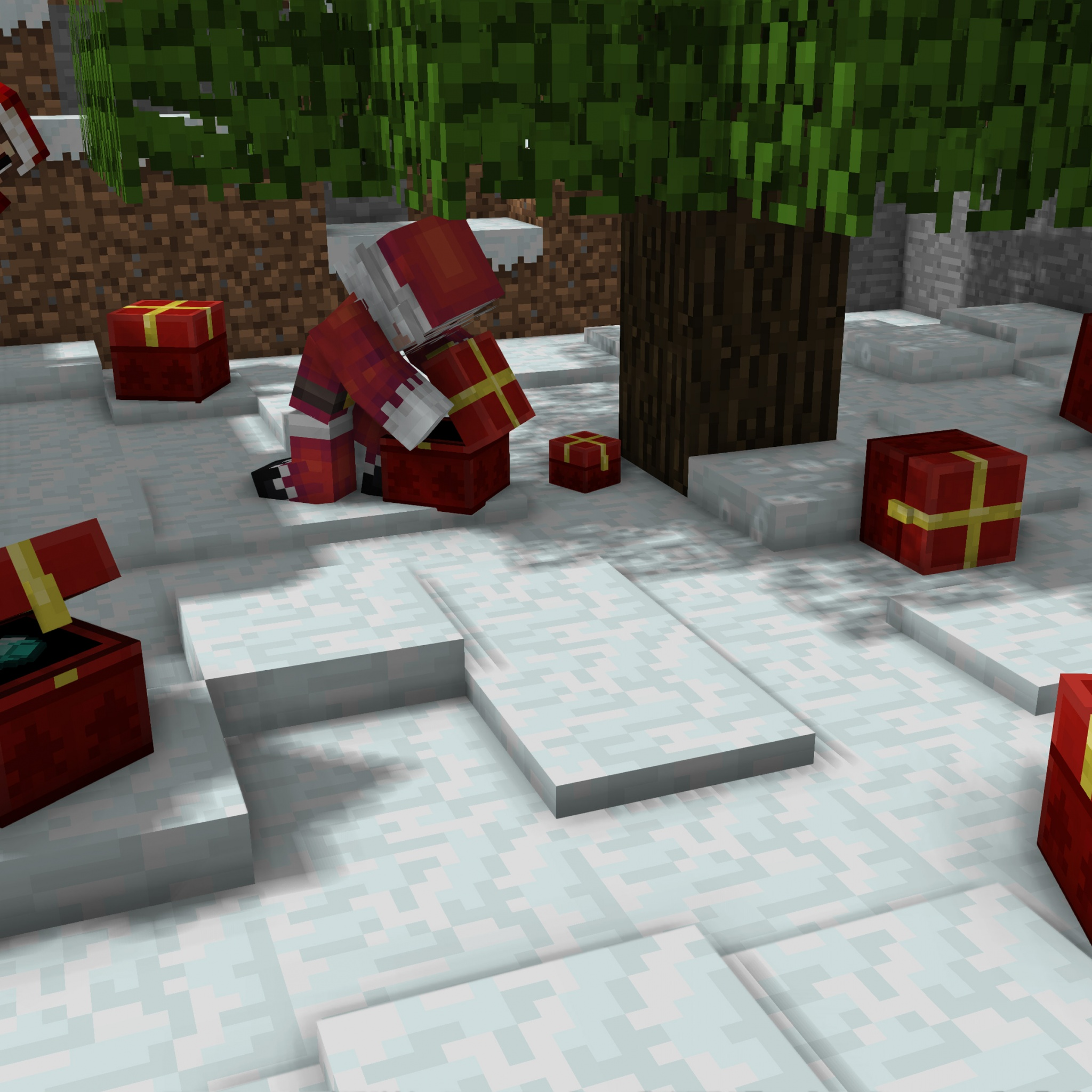 Christmas Minecraft Video Game
