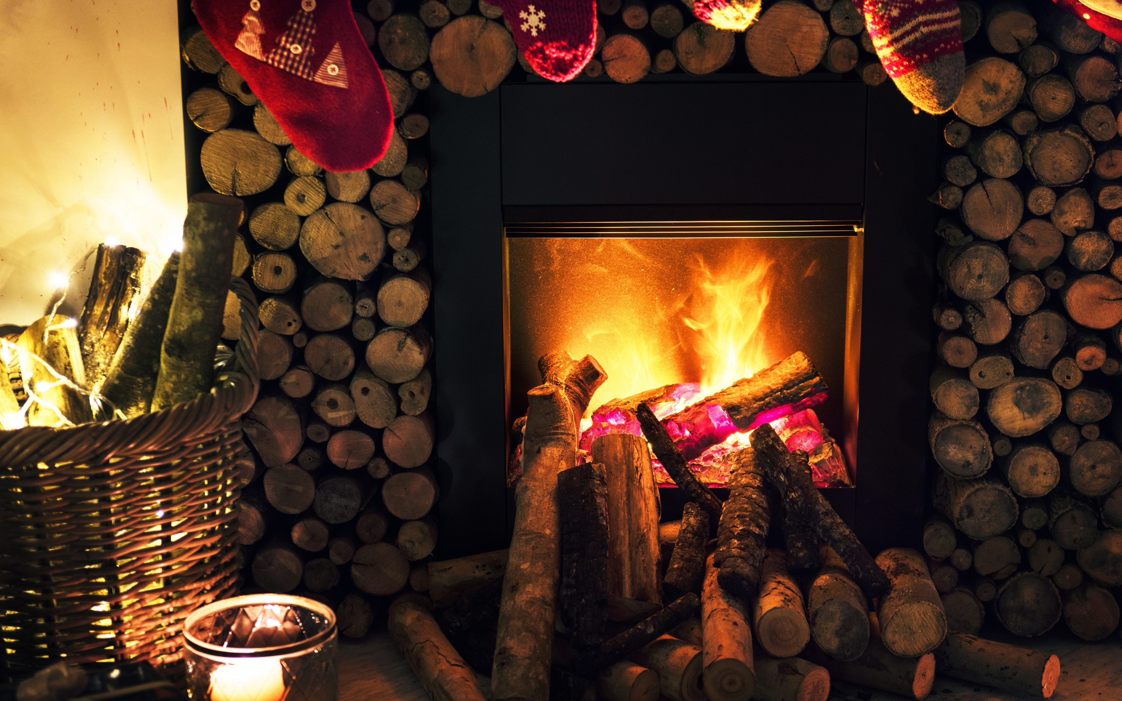 Christmas New Year Fireplace