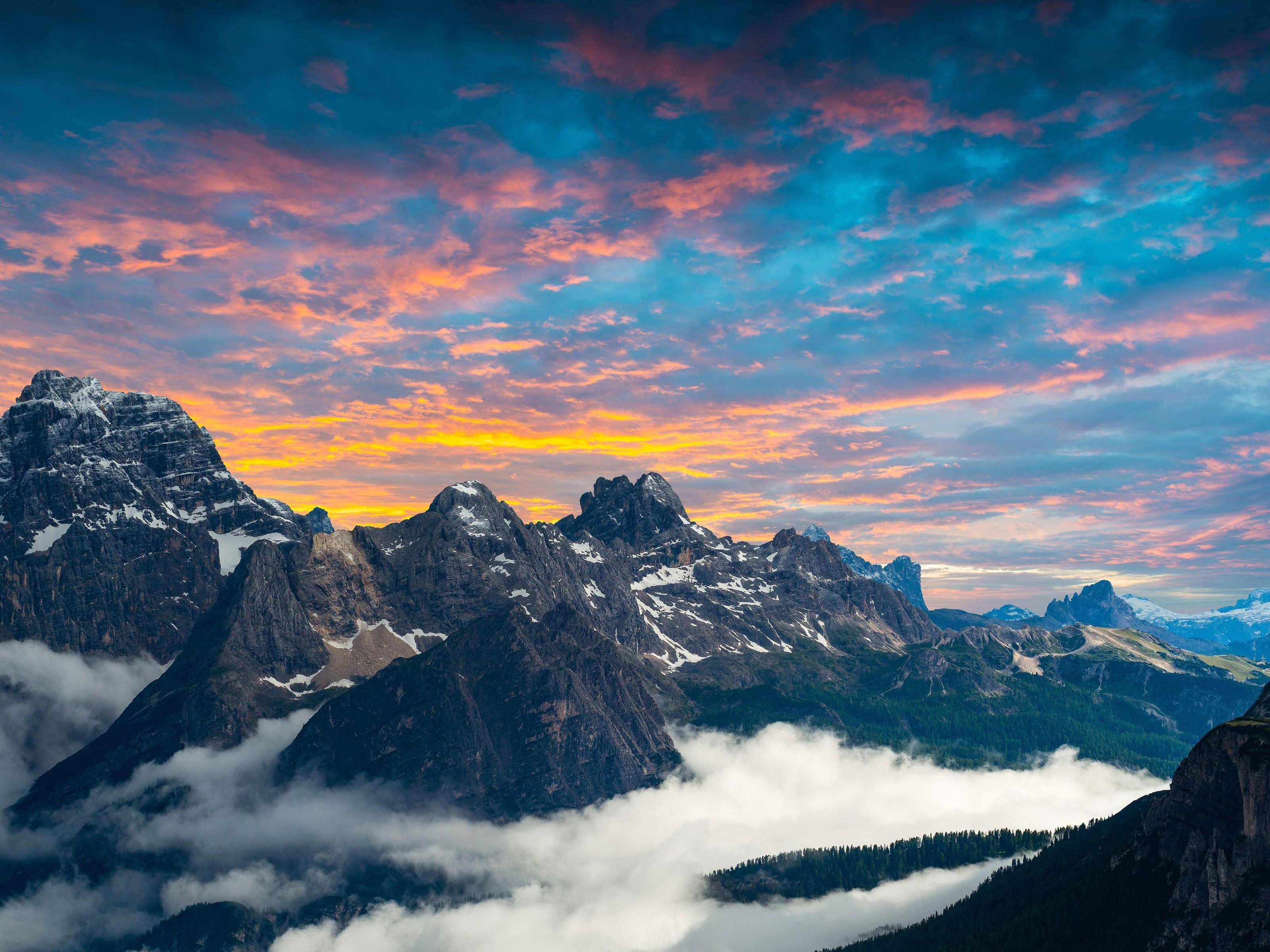 Dolomites Mountains Italy