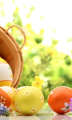Easter Eggs Spring Wallpaper