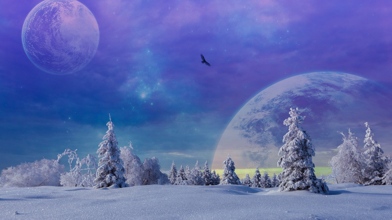 Fantasy Winter Scenery