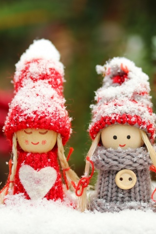 Four Winter Dolls