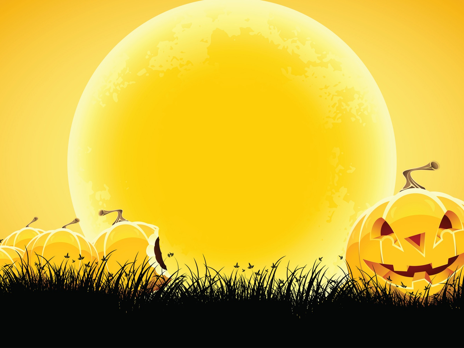 Halloween Yellow Background