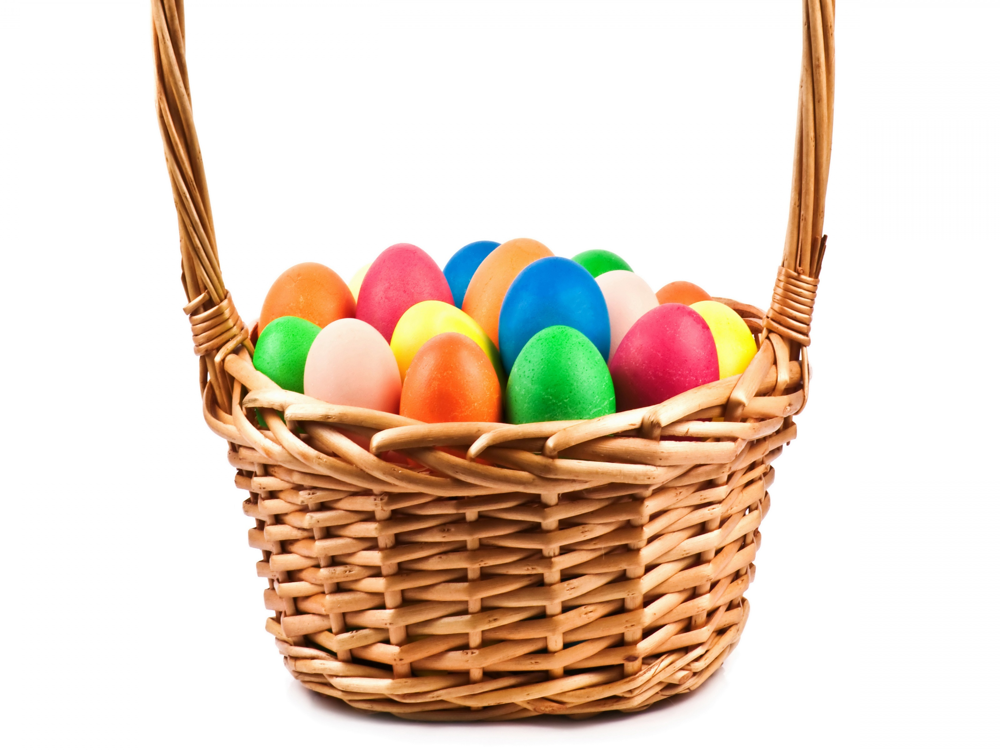 Holidays Easter Eggs Wicker Basket