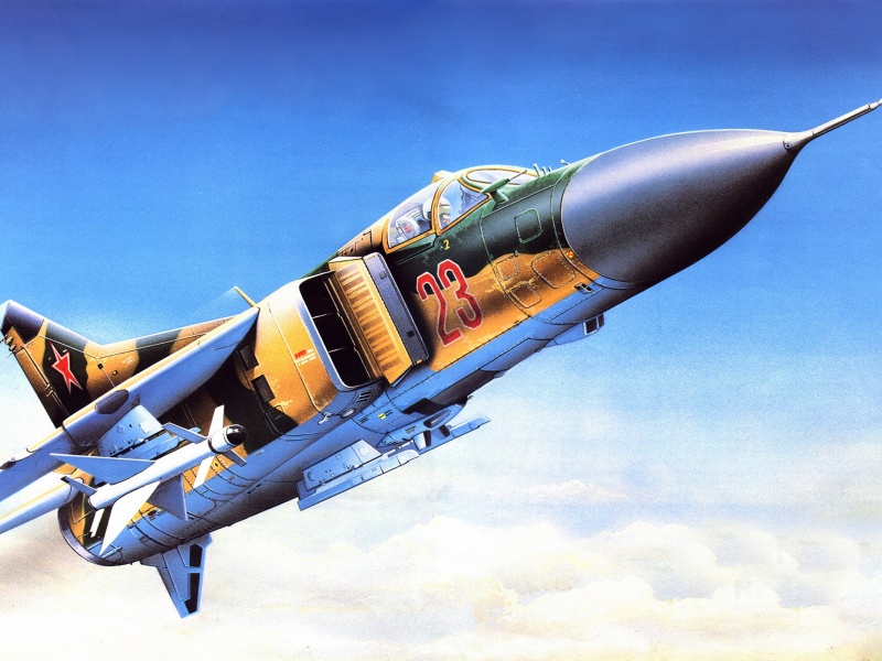 Painting Fighter MiG-23