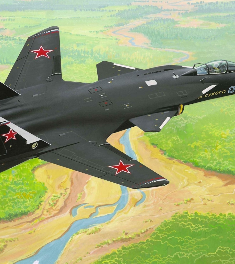 Russian Su-47 Berkut Fighter