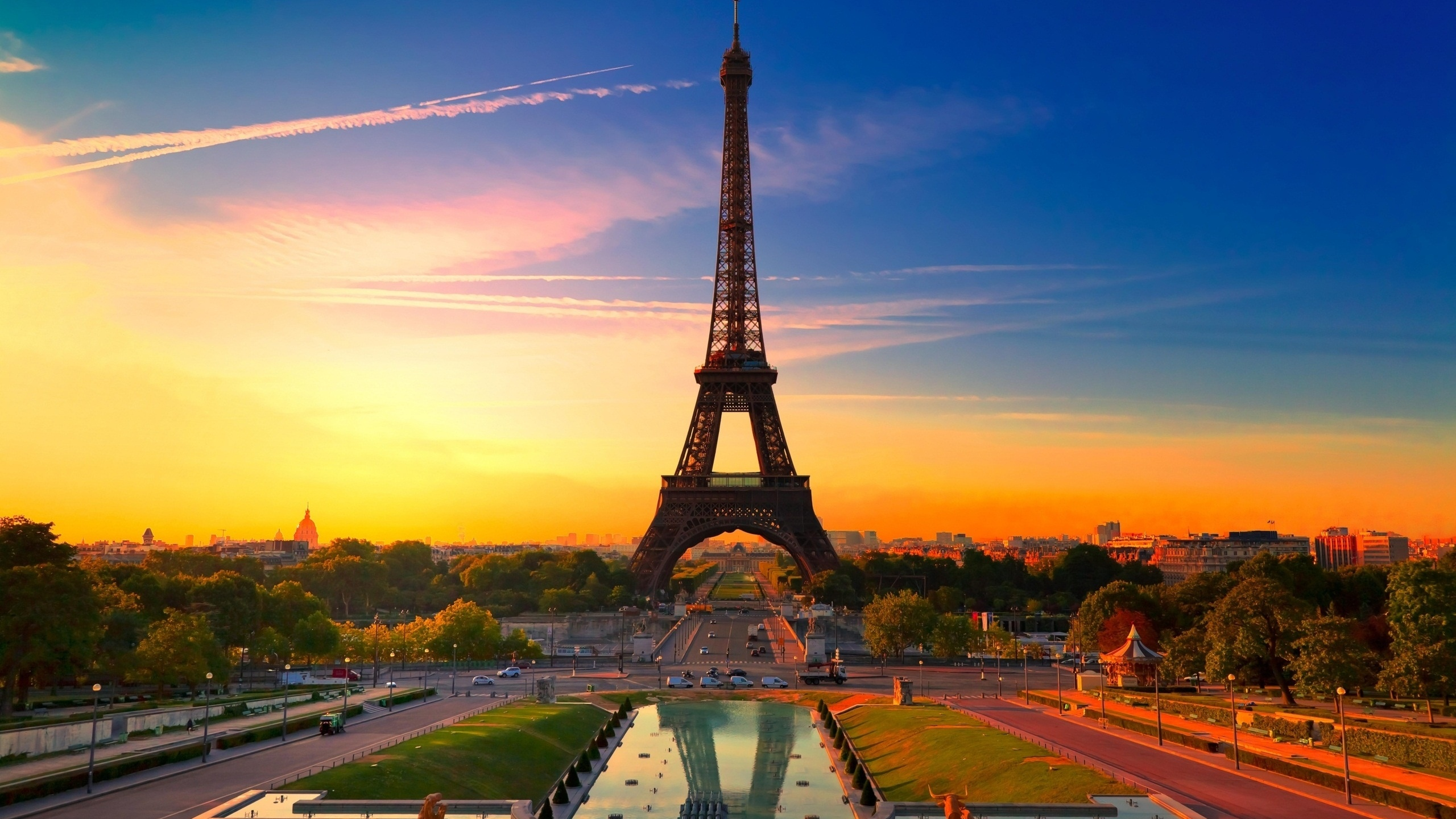 Sunset In Paris Wallpaper