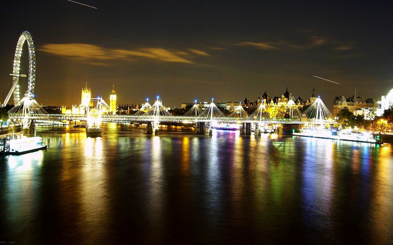 Thames Skyline By Night London United Kingdom