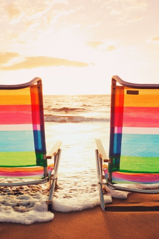 Two Chair On Island Beach
