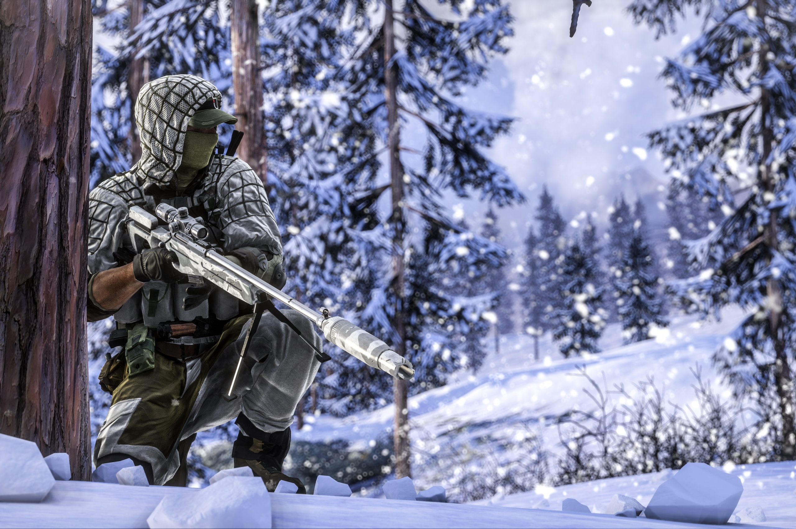 Winter Sniper Rifle Battlefield